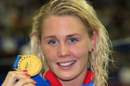 Jeanette Ottesen, verdensmester i svømning og årets sportsnavn 2011